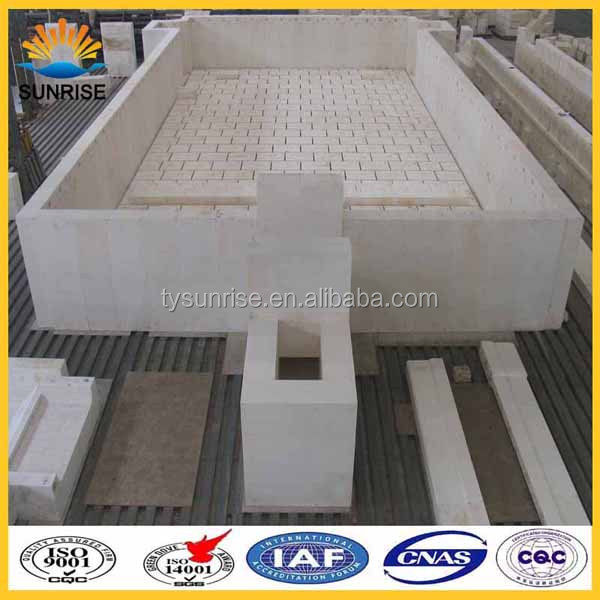 Fusion Cast AZS33 Refractory Block Furnace Material