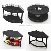 safe and common use shelf for vegetable and fruit supermarket display stand