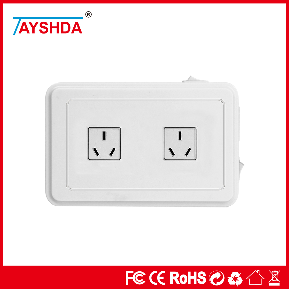 DC5V5A white 4 gang socket 4 USB ports with lightning protection and surge prevention