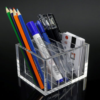 Acrylic Organizer Desktop Plexiglass Stationary Holder
