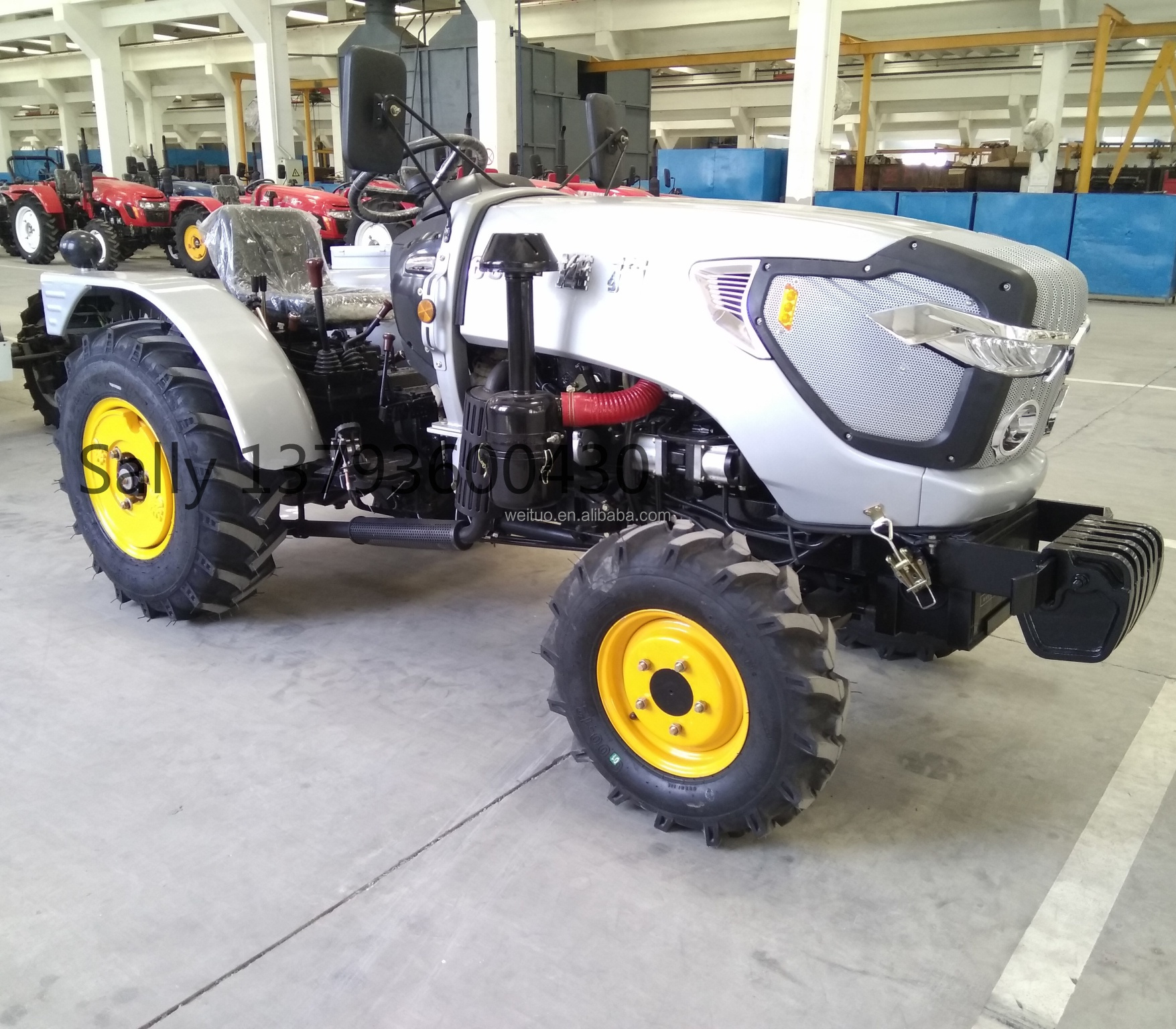 AOYE series 60HP 4 wheel drive farm garden tractor price weituo brand