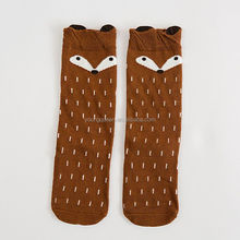 HW120 Children cartoon tube socks wholesale cotton cute fox socks
