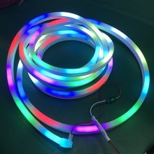 Ip67 Outdoor 14mm 16mm 20mm 24V Addressable DMX <strong>RGB</strong> 360 degree Pixel Round Led Neon Flex 12V
