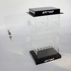 Wholesale Custom Plastic Clear Acrylic vapor Electronic Cigarette Display Stand Racks for 10ml,30ml bottle tobacco display rack