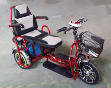 2017 new foldable electric tricycle with CE electric tricycle with passenger seat electric tricycle used