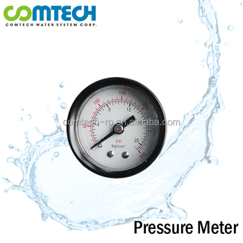"High Quality 1.5"" Pressure Gauge Meter for Water System"