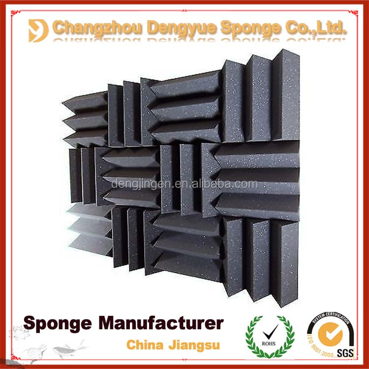 Black anti-dust sound insulation keep quiet room Polyurethane acoustic foam