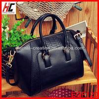 Authentic designer black handbag wholesale ladies stylish bags single messager bags with genuine crocodile skin