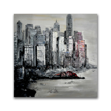 New Abstract Modern Port Scenery Acrylic Painting