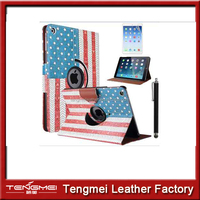 for ipad air case with America star and strap flag pattern, Super Slim Smart cover for apple ipad air 5