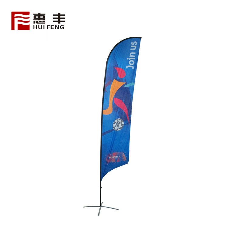 Promo Cheap Quality Beach Logo Flag Custom Printing