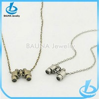 Europe popular style alloy material antique pendant telescope necklace in yiwu