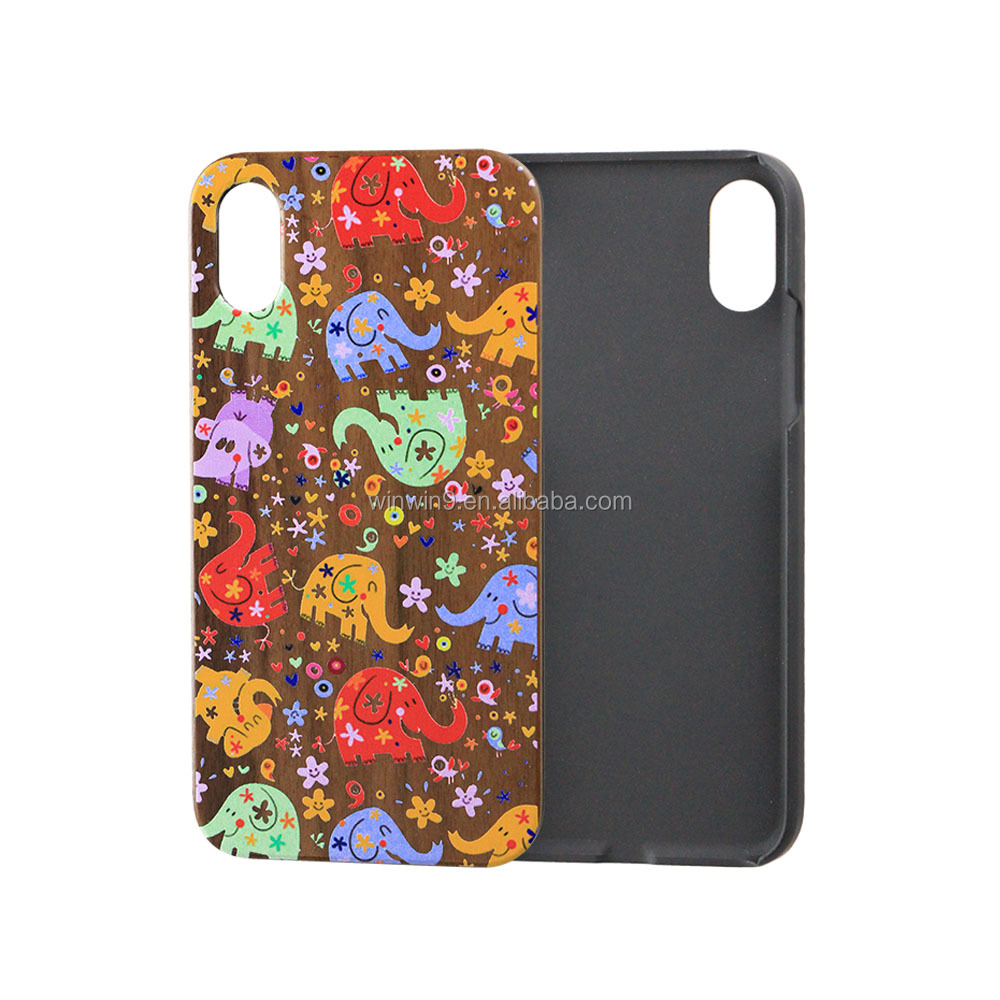 Hard Shockproof Plastic Frame Protective Phone Case for iPhone X Printting Animal Pattern Cell Phone Back Cover Case