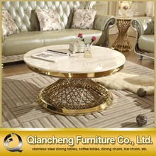 Stainless steel modern design new center table furniture