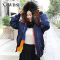 CX-G-P-19B OEM Custom Popular Style Multicolor Real Fur Parka Women