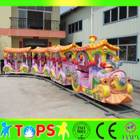 Archaize luxury electric amusement park ride tourist track train for sale, HENAN TOPS RIDES