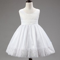 exquisite wedding dress baby girls dress lace tutu party wear dress for 2-8 years girls