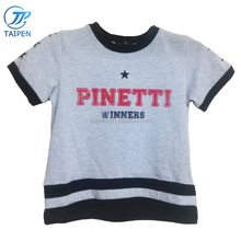 Wholesale Kids Clothes Grey Color Boys Casual T Shirt Printed With Letter