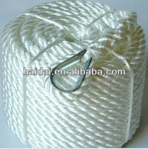 Polyamide 3-ply/4-ply twisted rope/cord