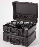 Professional black aluminium product box case with foam padding
