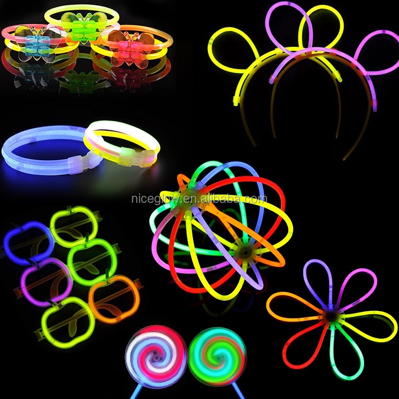 factory wholesales 5x200mm chemical glow stick mixed colors