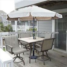 2.7M Patio 9' FT Feet Umbrella Tan Crank Market Pool Garden Outdoor Beige Tilt