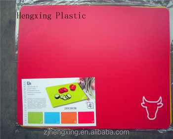 hot selling plastic flexible cutting board