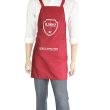 new product Red Embroidery Bib Type Custom 100 Cotton Twill Apron