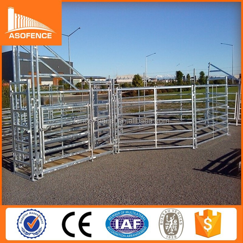 factory price galvanized cattle panel/china manufacturer horse yard fence/temporary metal fence panels