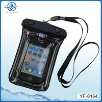 top sale silicone pvc cell phone waterproof cases