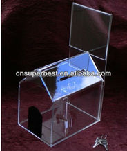 custom donation money box by acrylic/plexiglass material