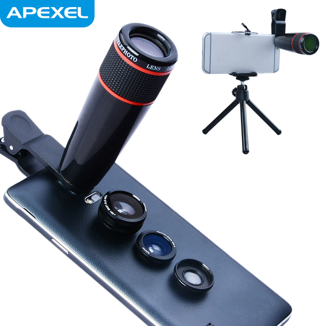 Factory Rent in China, 4 in 1 Lens Kit Wide Angle / Fisheye / Macro / Telephoto Camera Lens for Galaxy Note 2 / Samsung / HTC