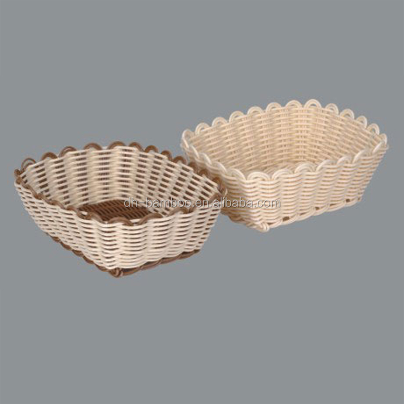 Wholesale Poly woven rattan gift basket for storage