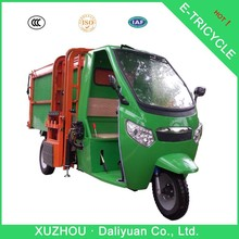 1550W garbage trash cleaning electric tricycle which rises plastic dustbins