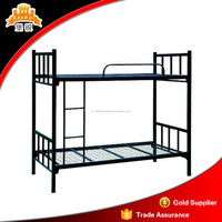 refugee used metal double deck bed squre models tube beds
