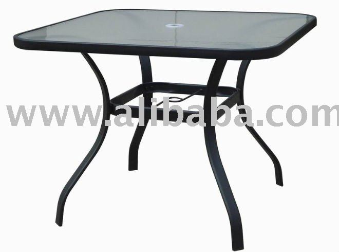 Patio Furniture Steel 38 Square Glass Dining Patio Table Buy Patio  Furniture Steel 38 Square Glass