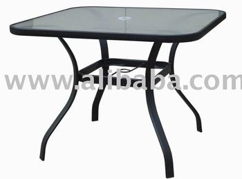 steel 38 square glass dining patio table buy outdoor glass table