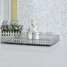Attractive Design Delicate Mirror Tray/decorative art metal serving tray