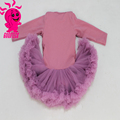 latest fashion comfortable long sleeve fluffy chiffon Baby pettiskirt tutu