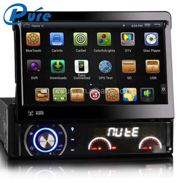 Hot sale capacitive touch screen 1 din 7 inch car dvd player with DVD+GPS+Bluetooth+built-in WiFi+Mirror-Link+USB/SD+AUX IN