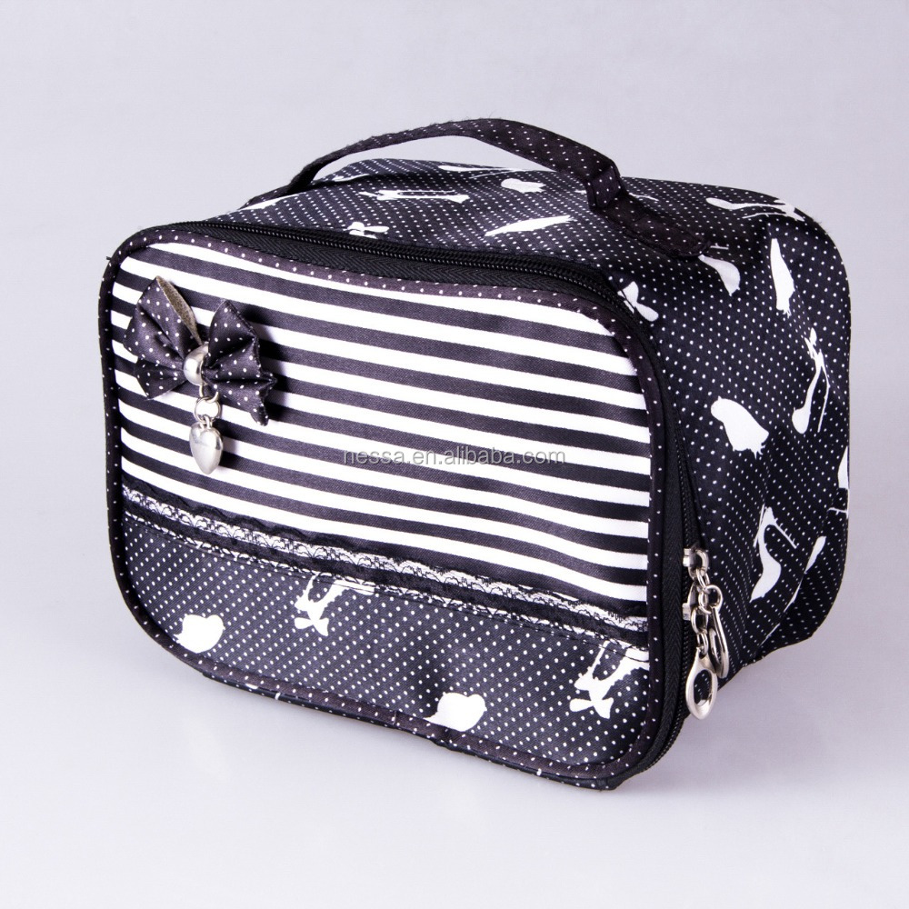 Fashion cosmetic bag with mirror Wholesales JG- 0053