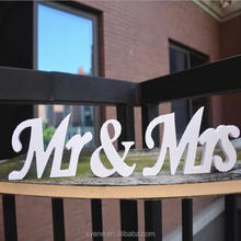 Wedding Decoration White Mr&Mrs Letters three-Dimensional Letter Wedding Props Love Bedroom Decor