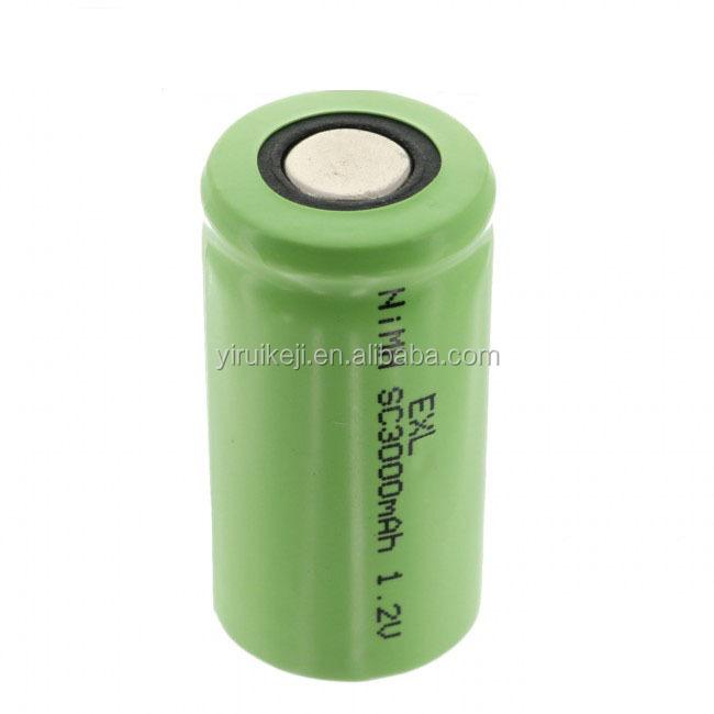 nimh sc 1.2v battery 3000mah 1.2v sc 3000mah nimh batteries ni-mh sub c 3000mah 1.2v rechargeable batteries