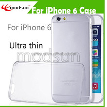 Top selling for iPhone all type TPU case 0.3mm thin for iPhone 6 Crystal clear TPU case