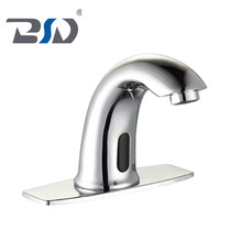 Brass no handle control touchless adjustable automatic medical waterfall faucet sensor infrared basin faucet