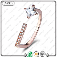 Factory cheap price Zircon Stones S925 Silver engagement rings for girls