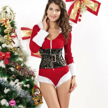 Sexy Christmas Lingerie Wholesale, 3 Piece Red Velvet Christmas Corset Sets + best price + Fast Delivery