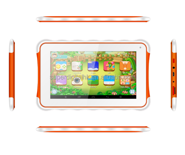 7 inches kids educational tablets Android 5.0 OS Allwinner A33 quad core