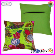 F048 Embroidery Cotton Cushion Handmade Pillow Floral Design Hand Embroidery Designs of Cushion