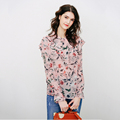 Fashion Designs Woman Autumn Long Camille Floral Off Shoulder Printed Blouse